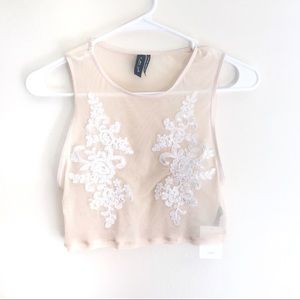 Urban Outfitters Nude Crop Top